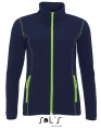 Polar damski Sol's Micro Fleece Zipped Jacket Nova Women 00587 Navy Apple Green.jpg