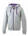 Męska bluza z kapturem James Nicholson Doubleface Grey Heather Purple.jpg