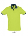 Koszulka polo męska kontrastowa Polo Prince 11369 Apple Green French Navy.jpg