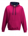 Bluza reklamowa z kapturem Just Hoods Varsity Hoodie JH003 Hot Pink French Navy.jpg