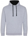 Bluza reklamowa z kapturem Just Hoods Varsity Hoodie JH003 Heather Grey Jet Black.jpg