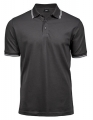 Koszulka polo męska Luxury Stripe Stretch Polo 1407 Dark Grey Solid White.jpg