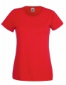 Koszulka t-shirt damska Fruit of The Loom Valueweight T Lady-Fit 61-372-0 Red.jpg