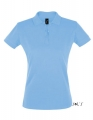 Koszulka polo damska Sols' Women´s Polo Shirt Perfect 11347 Sky Blue.jpg