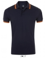 Koszulka polo męska Sol's Men´s Polo Shirt Pasadena 00577 French Navy Neon Orange.jpg