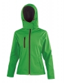 Damski Softshell Result TX Performance Hooded R230F Vivid Green Black.jpg