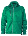 Męski Softshell James Nicholson Maritime Jacket JN1078 Irish Green Navy White.jpg