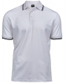 Koszulka polo męska Luxury Stripe Stretch Polo 1407 White Navy.jpg