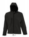 Męski Softshell Sol's Hooded Jacket Replay 46602 Black.jpg