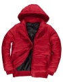 Męska kurtka firmowa z kapturem B&C Superhood JM940 Red Black.jpg