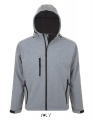 Męski Softshell Sol's Hooded Jacket Replay 46602 Grey Melange.jpg