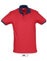Koszulka polo męska kontrastowa Polo Prince 11369 Red French Navy.jpg