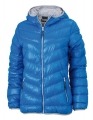 Kurtka puchowa damska James Nicholson Men's Down Jacket JN 1059 Blue Silver.jpg