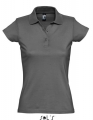 Koszulka polo damska Womens Polo Shirt Prescott 11376 Dark Grey Solid.jpg
