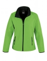 Damski Softshell Result Printable Soft Shell Jacket R231F Vivid Green Black.jpg