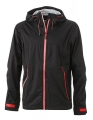 Męski Softshell James Nicholson Outdoor Jacket JN1098 Black Red.jpg