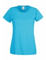 Koszulka t-shirt damska Fruit of The Loom Valueweight T Lady-Fit 61-372-0 Azure Blue.jpg