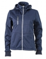 Damski Softshell James Nicholson Maritime Jacket JN1077 Navy Navy White.jpg