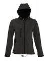 Damski Softshell Sol's Hooded Jacket Replay 46802 Black.jpg