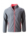 Kurtka softshell męska James Nicholson Promo JN1130 Iron Grey Red.jpg