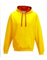 Bluza reklamowa z kapturem Just Hoods Varsity Hoodie JH003 Sun Yellow Fire Red.jpg