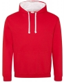 Bluza reklamowa z kapturem Just Hoods Varsity Hoodie JH003 Fire Red Artic White.jpg