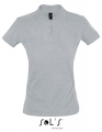 Koszulka polo damska Sols' Women´s Polo Shirt Perfect 11347 Grey Melange.jpg