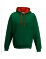 Bluza reklamowa z kapturem Just Hoods Varsity Hoodie JH003 Bottle Green Fire Red.jpg