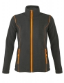 Polar damski Sol's Micro Fleece Zipped Jacket Nova Women 00587 Charcoal Grey Solid Orange.jpg