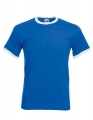 Koszulka t-shirt męska kontrastowa Fruit of The Loom Ringer Tee 61-168-0 Royal Blue White.jpg