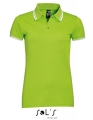 Koszulka polo męska Sol's Men´s Polo Shirt Pasadena 00577 Lime White.jpg