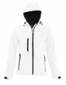 Damski Softshell Sol's Hooded Jacket Replay 46802 White.jpg