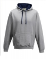Bluza reklamowa z kapturem Just Hoods Varsity Hoodie JH003 Heather Grey French Navy.jpg