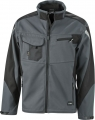 Kurtka robocza softshell James Nicholson Workwear Carbon Black.png
