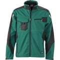 Kurtka robocza softshell James Nicholson Workwear Dark Green Black.png