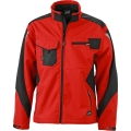 Kurtka robocza softshell James Nicholson Workwear Red Black.png