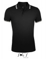 Koszulka polo męska Sol's Men´s Polo Shirt Pasadena 00577 Black White.jpg
