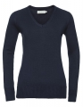 Damksi pulower Russel V-neck french navy.jpg