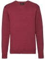 Męski sweter firmowy Russel Pullover Cranberry marl.jpg