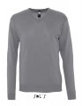 Sweter firmowy męski Sol's Galaxy v-neck medium grey.jpg