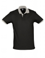 Koszulka polo męska kontrastowa Polo Prince 11369 Black Light Grey.jpg