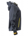 Damska kurtka Softshell James Nicholson Outdoor JN1097 Iron Grey YellowC.jpg