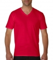 Koszulka t-shirt męska Gildan Premium Cotton® Man`s V-Neck red.jpg