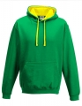 Bluza reklamowa z kapturem Just Hoods Varsity Hoodie JH003 Kelly Green Sun Yellow.jpg
