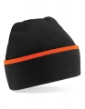 Czapka zimowa kontrastowa Teamwear black orange.jpg