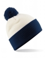 Czapka zimowa z pomponem Beachfield Snowstar® of white french navy.jpg