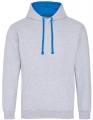 Bluza reklamowa z kapturem Just Hoods Varsity Hoodie JH003 Heather Grey Sapphire Blue.jpg