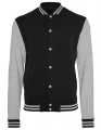 Męska bluza firmowa College Build Your Brand BY015 Black Heather Grey.jpg