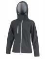 Damski Softshell Result TX Performance Hooded R230F Black Grey.jpg