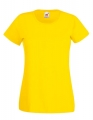 Koszulka t-shirt damska Fruit of The Loom Valueweight T Lady-Fit 61-372-0 Yellow.jpg